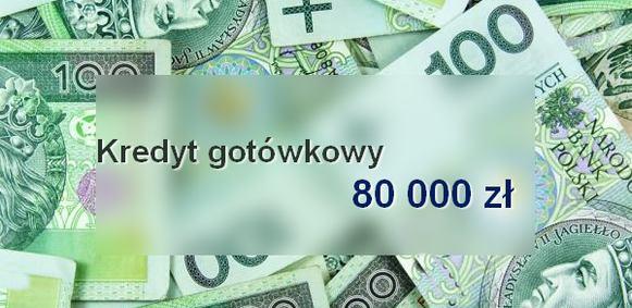 kredyt gotówkowy 80000 banki