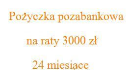 pożyczka pozabankowa na raty 3000 zł 24 miesiące