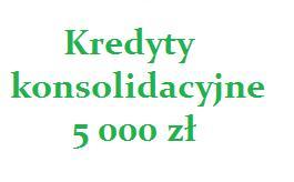 kredyty konsolidacyjne 5000 zł