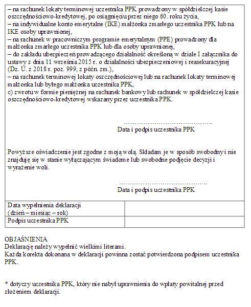 Pracownicze Plany Kapitałowe wzór umowy