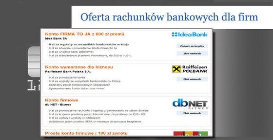 rachunek bankowy dla firm gdzie jest najlepszy