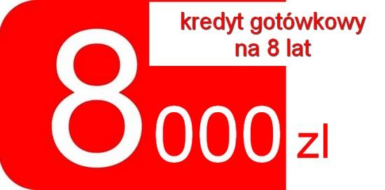 kredyt gotówkowy 8000 zł 8 lat