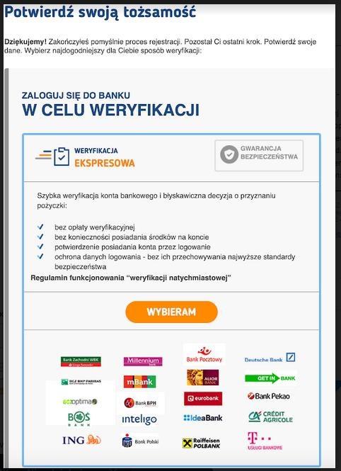 Pożyczki pozabankowe przez internet na dowód. Bezpieczeństwo. Weryfikacja 1