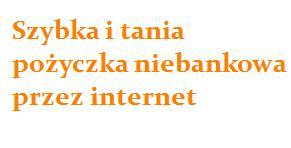 szybka i tania pożyczka niebankowa przez internet