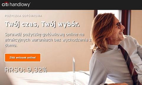 promocyjna pożyczka gotówkowa online w Citi Handlowy 10 listopad 2019