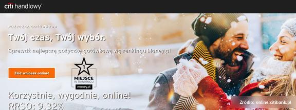 kredyt gotówkowy Citi Handlowy - pożyczka gotówkowa do 150000 zł