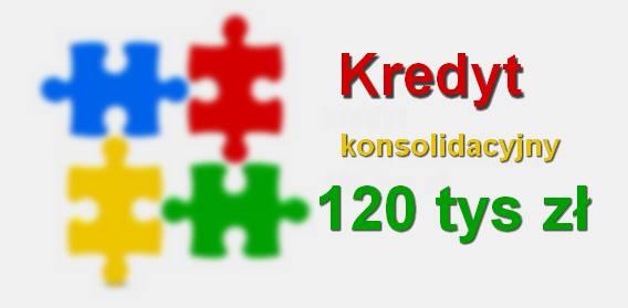 kredyt konsolidacyjny 120 tys zł w banku