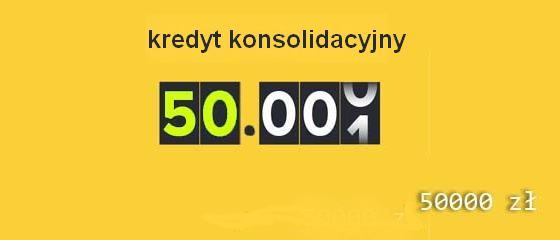 kredyt konsolidacyjny 50 tys zł w bankach