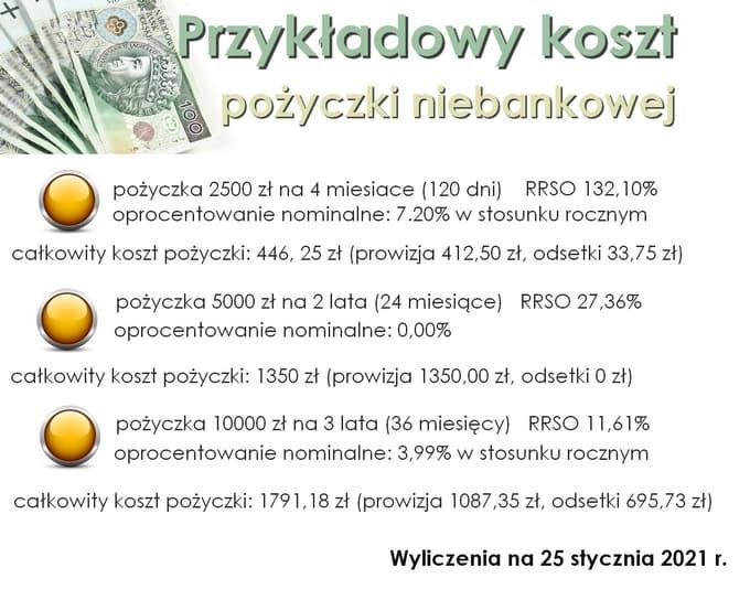 koszty pożyczki niebankowej