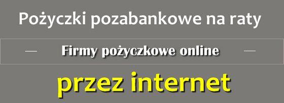 pożyczka przez internet na konto na raty online
