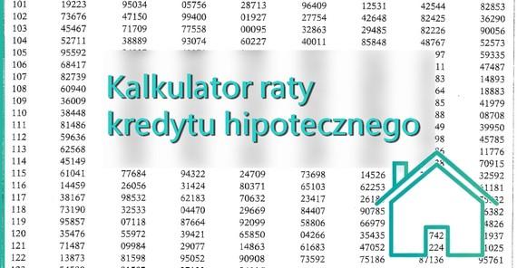 kalkulator raty kredytu hipotecznego