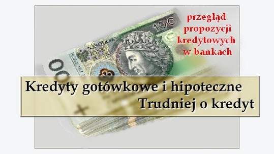 Kredyty gotówkowe i hipoteczne. Trudniej o kredyt