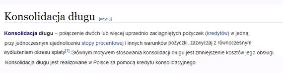 kredyt konsolidacyjny wikipedia