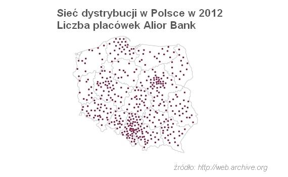 alior bank placówki bankowe pod koniec 2012 r.