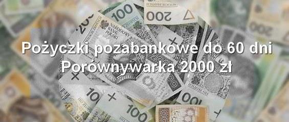 pożyczki pozabankowe do 60 dni porównywarka 2000 zł