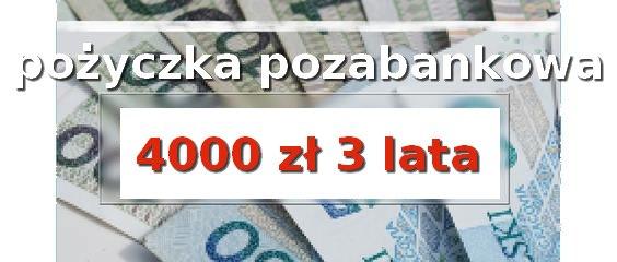 pożyczka pozabankowa 4000 zł 3 lata