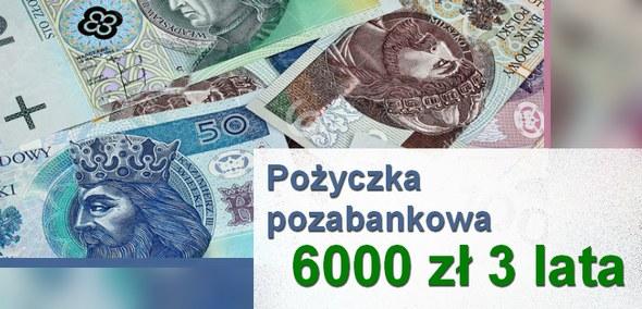 pożyczka pozabankowa 6000 zł 3 lata