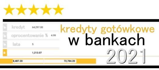 oferty kredyty gotówkowe w bankach 2021