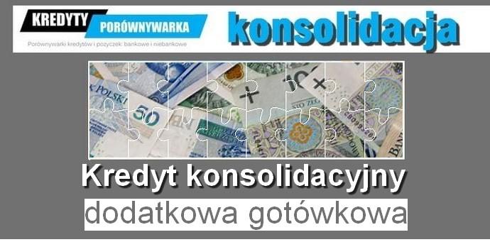 kredyt konsolidacyjny i dodatkowa gotówka